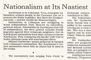 Nationalism at Its Nastiest